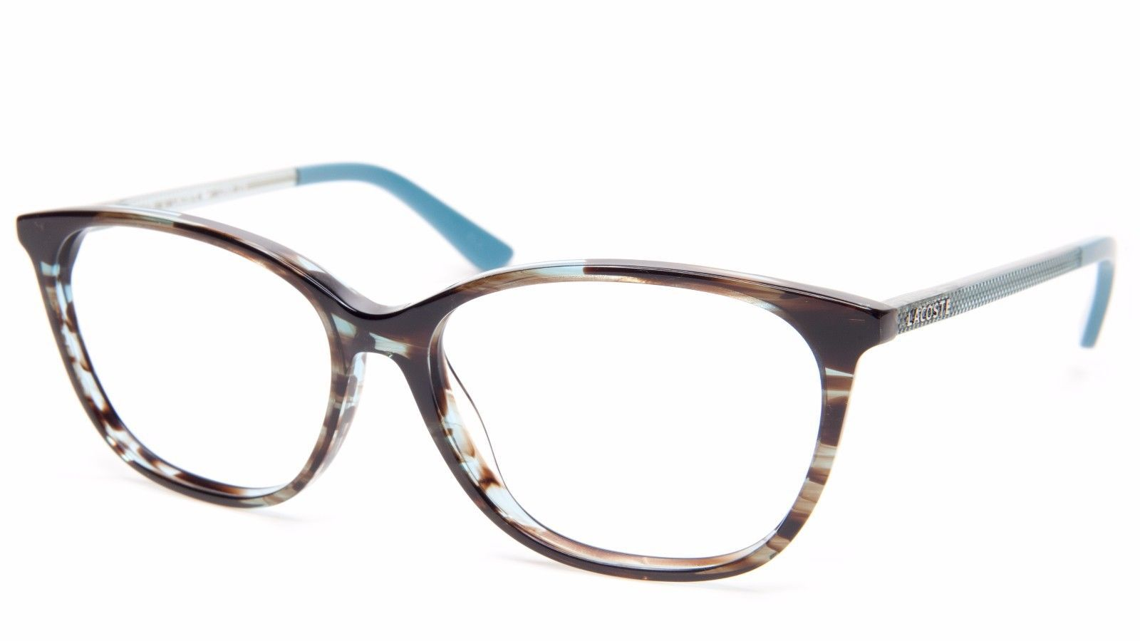 e622c71ff59492 NEW LACOSTE L2690 215 AZURE BLUE HAVANA EYEGLASSES FARME 53-14-135 B40mm