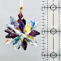 Aurora Borealis Crystal Snowflake Ornament image 2