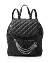 NWT MICHAEL Michael Kors Black Cheyenne Quilted... - $228.00