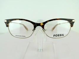 Fossil FOS 6055 (OIM) Gold / Havana 52 X 17 145 mm Eyeglass Frames - $47.96