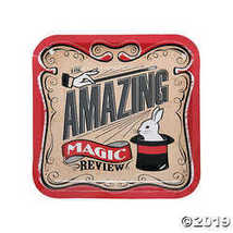 Magical Party Square Paper Dinner Plates - $3.86