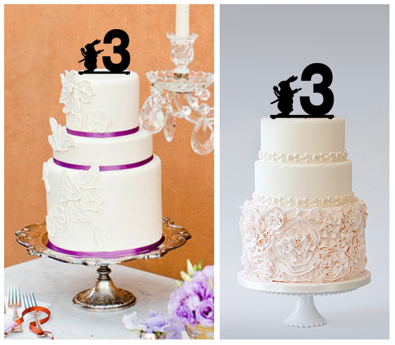 3rd Birthday Anniversary Cake TopperCupcake Topper Alice White Rabbit 11 Pcs