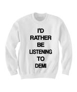 Demi Lovato Shirt Sweatshirt Sweater Jumper - Tattoo Clothing Clothes Ap... - $25.00