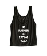 Pizza Crop Top Shirt - Cute Cheap Crop Top - Trendy Grunge Teen Tween Clothing C - $22.00