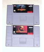 Mortal Kombat & Mortal Kombat II (Super Nintend... - $29.95