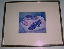 "1997 Signed Photographic Art of Original Piece ""Shoes"" Display by J.Krencik - $142.89"
