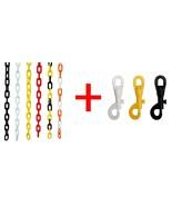 6mm Plastic Chain + Plastic Snaps VIP Crowd Control - $21.77+