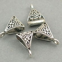 20 Silver Triangle Slider Jewelry Bails Connectors Charms by Be Charmed ... - $4.21