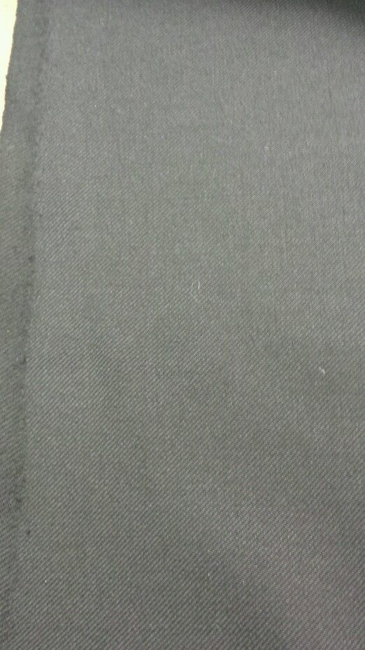 Black Twill Full Weight Wool Suiting Fabric 5 Yards MSRP 650