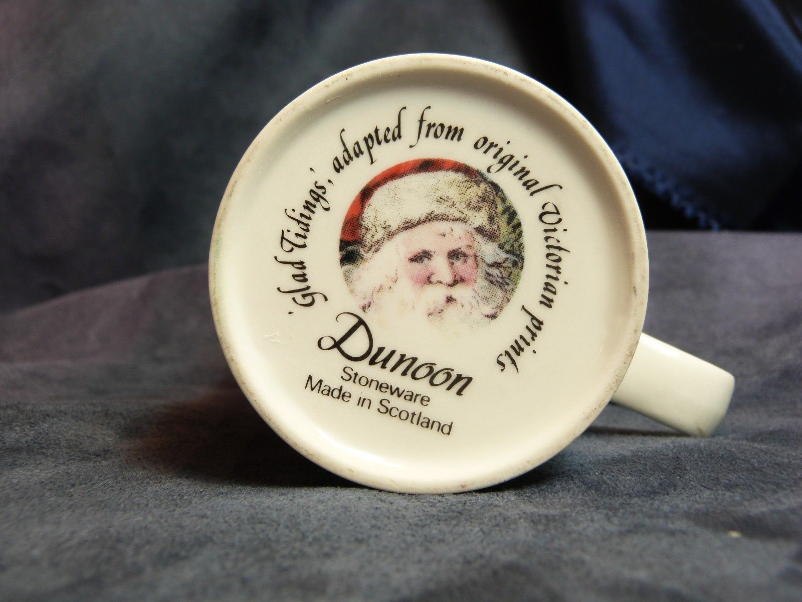 Dunoon Ceramics Scotland Mug Victorian Christmas Prints Glad Tidings Santa 4""