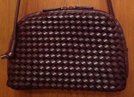 Nine West Brown Woven Faux Leather Purse New - $9.90