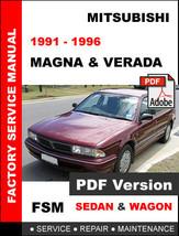 Mitsubishi Verada 1991   1996 Factory Oem Service Repair Workshop Fsm Manual - $14.95