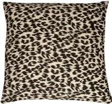 Pillow Decor - Leopard Print Cotton Large Throw Pillow - $24.95