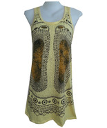 Yoga Mini Dress Buddha Feet Chakra Hindu Mystic India Boho Hobo MIRROR H... - $19.79