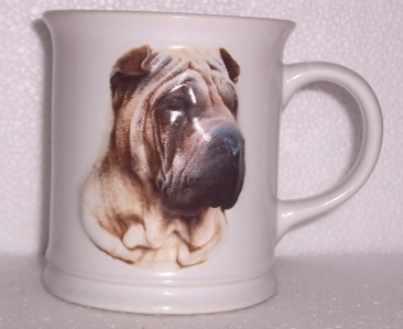 1999 BARBARA AUGELLO XPRES BEST FRIEND SHAR-PEI DOG MUG
