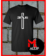 Jesus Cross T-Shirt Large Religion Christian Easter God Heaven Christ Tee EI09 - $14.75