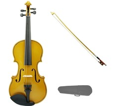 1/10 Size Gold Violin Gold Bow with Case,Rosin~Student Beginner Starter Gift