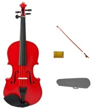 1/4 Size Red Violin Red Bow with Case,Rosin~Student Beginner Starter Gift - $52.00