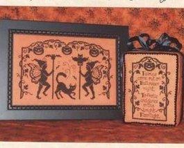 Halloween Faeiries One-Color Wonders monochrome cross stitch Waxing Moon Designs - $7.20