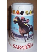 1999 SARATOGA LEADERS JERRY BAILY RACETRACK STEIN - $22.51