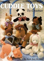 W774 Crochet PATTERN Book ONLY Cuddle Toys Rabbit Dog Panda Horse Cat Bear - $15.50