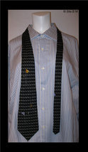 GOLF Novelty 100% SILK Neck Tie - by Nicole Miller - FREE SHIPPING - $25.00
