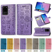 For Samsung Note 20 S20 Ultra A01 A11 A21 A14 Magnetic Flip Leather Wallet Case - $61.50