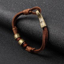 Surfer Women Mens Cool Hemp Cords PU Leather Wrap Bracelet Wristband Cuf... - $37.40