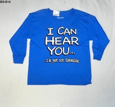 Gildan Sz 6/7 Blue Tee Shirt  I CAN HEAR YOU  Nwt - $12.99