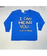 Gildan Sz 6/7 Blue Tee Shirt  I CAN HEAR YOU  Nwt - $12.99