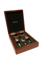 Vintage Brookstone Wood Box Wine Tool Kit with 5 Tools - $14.44