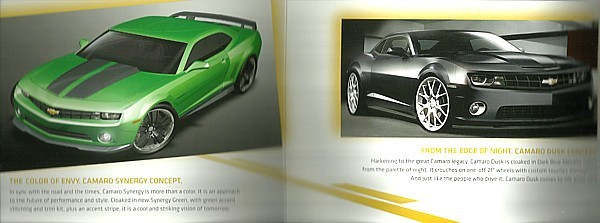 2010 Chevrolet CAMARO SYNERGY DUSK CHROMA Concepts sales brochure SEMA