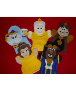 Puppet-- Beauty and the Beast hand puppets- Belle, Beast, Mrs Potts, Can... - $25.99