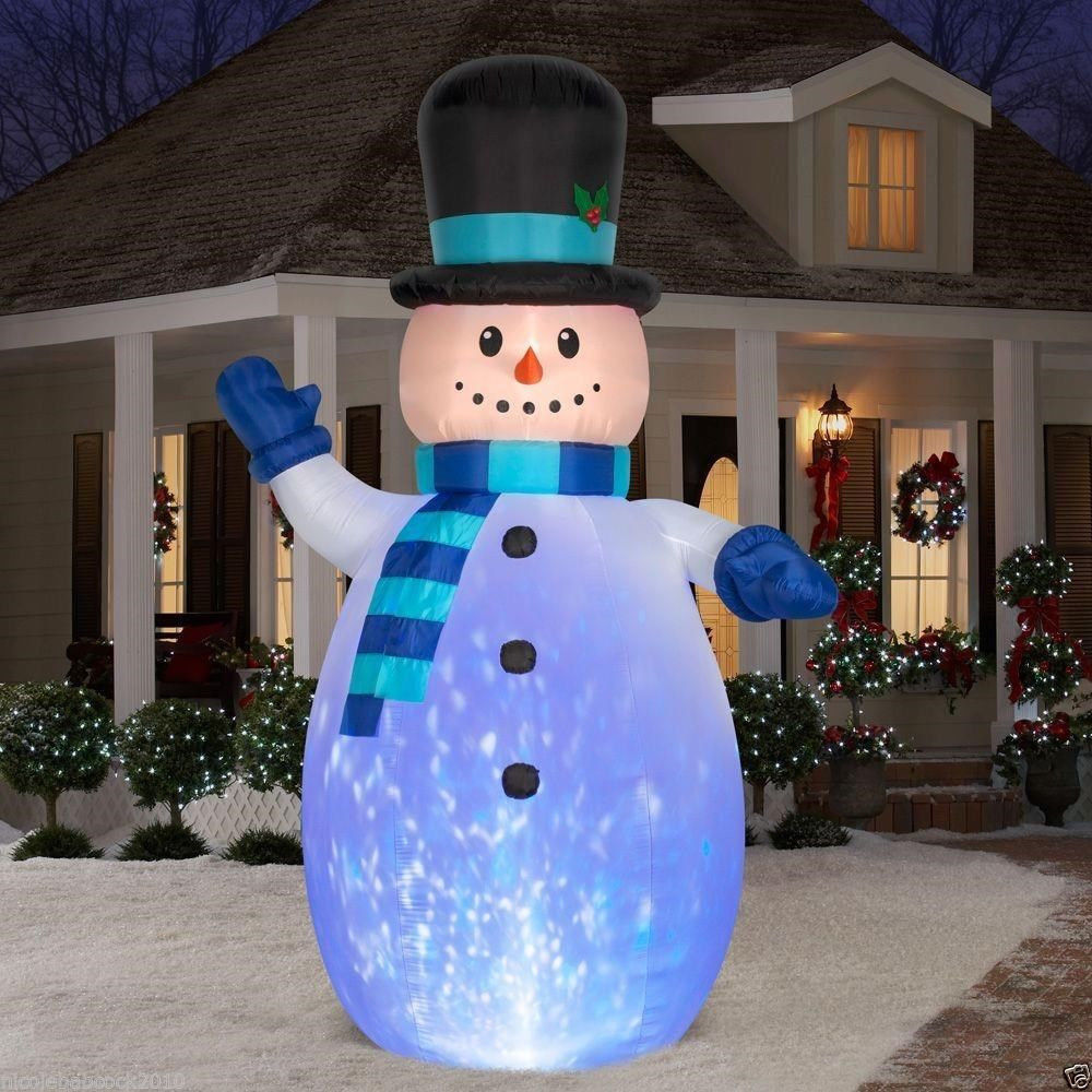 12 Ft Kaleidoscope Colors Snowman Outdoor Inflatable Yard