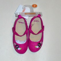 Gymboree Girls Pink Suede Flower Shoes  8  NWT - $16.00