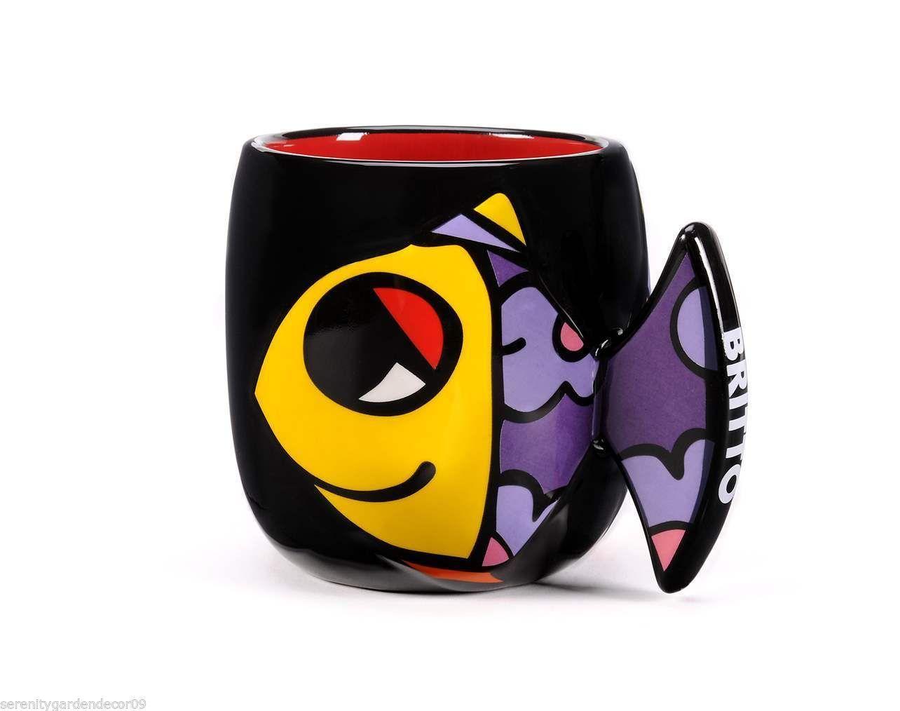 Romero Britto Ceramic - Fish Design  - Mug Cup  #333003