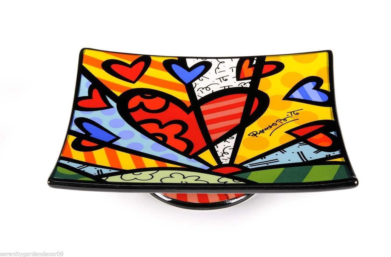Romero Britto Ceramic -  A New Day Design  - Soap Dish #333023