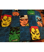 Marvel Comics Throw Captain America Thor Iron Man Incredible Hulk 50 x 6... - $29.99