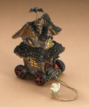 """Boyds Pull Toy -""""Hilda's Haunted House"""" 5.5"""" Tug Along  #654112 - 2001-Retired - $29.99"""