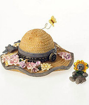 "Boyds Bears Treasure Box ""Sunny's Straw Hat w/Daisy McNibble"" #4026249- NIB - $23.99"