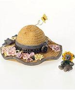 """Boyds Bears Treasure Box """"Sunny's Straw Hat w/Daisy McNibble"""" #4026249- NIB - $23.99"""