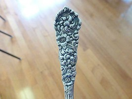 1895 July 19 Victorian Flower Trajan Reed & Barton Sterling Silver Souve... - $39.59