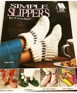 Simple Slippers in Crochet Annie's Attic PATTERN BOOKLET Rare HTF - $19.99