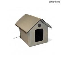 Outdoor Nylon Kitty House Cat Pet Velcro Bed w/ Door For Cold or Wet Wea... - $85.98