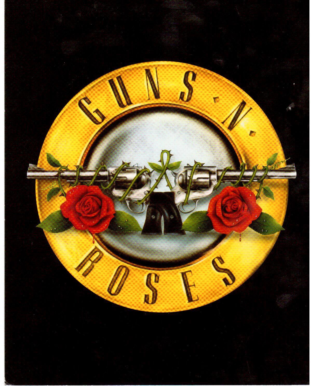 Guns N' Roses Logo Rock Vintage 11X14 Color and 24 similar ...