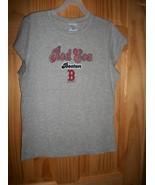 MLB Women Clothes Large Boston Red Sox Adult Baseball Shirt Gray Base Ba... - $16.14