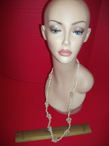 Fashion Treasure Women Accessory Jewelry Cream Shell Strand Costume Necklace - $9.49