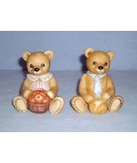 Homco 1405 Mr & Mrs Teddy Bears 2 Figurines Home Interiors Mother & Fath... - $8.99