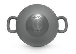 NEW Kamagon Exercise Ball  Gray  9-Inch with workout DVD Keep FitKamagon... - $64.68