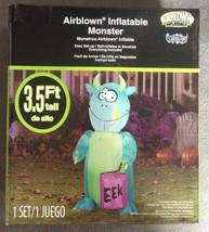 3.5 foot Indoor Outdoor Inflatable Trick-or-Treat Monster Halloween Deco... - $14.95